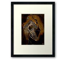 CURSES  Framed Print