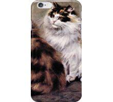 Tortoiseshell Persion Cats Art iPhone Case/Skin