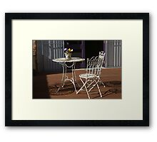 be seated please Framed Print