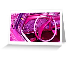 Pink Interior Trim Greeting Card
