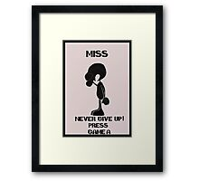 Game and watch Never Give Up Framed Print