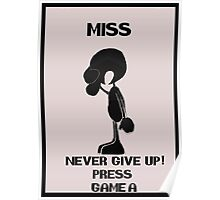 Game and watch Never Give Up Poster