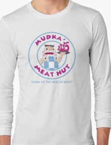 Mudka's Meat Hut Logo Long Sleeve T-Shirt