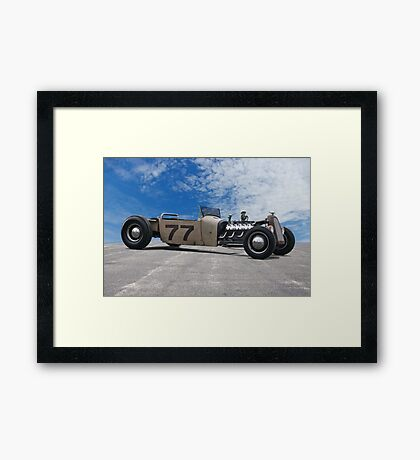 Rat Rod Roadster Pickup 'Lincoln Zephyr V12' Framed Print