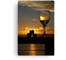 Sunset Drinks Canvas Print