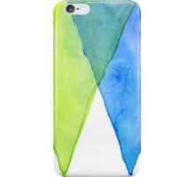 Abstract Triangles Geometric Shapes Watercolor Rainbow iPhone Case/Skin