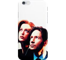 Scully Mulder X Files  iPhone Case/Skin