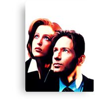 Scully Mulder X Files  Canvas Print