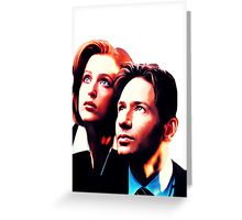 Scully Mulder X Files  Greeting Card