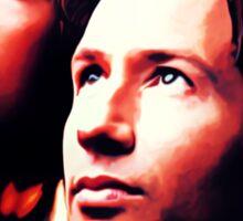 Scully Mulder X Files  Sticker