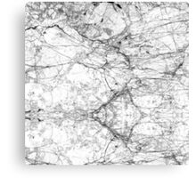 Black and White Modern Faux Marble Pattern Canvas Print