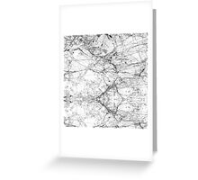 Black and White Modern Faux Marble Pattern Greeting Card