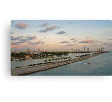Let's go to Miami Beach Canvas Print