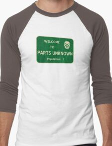 Welcome To Parts Unknown Men's Baseball ¾ T-Shirt