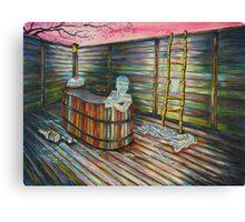 7. Heartbreak - Sad woman in bath Canvas Print