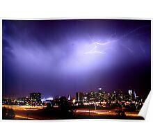 Lightning over Denver 2 Poster