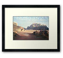 Pink Desert Framed Print