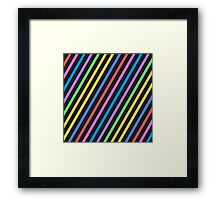 Colourful trippy stripes Framed Print