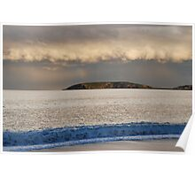 Mutton Bird Island Storm clouds Poster
