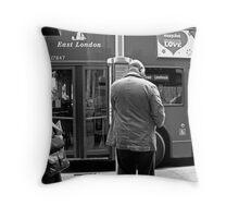 Bus Stop II Throw Pillow