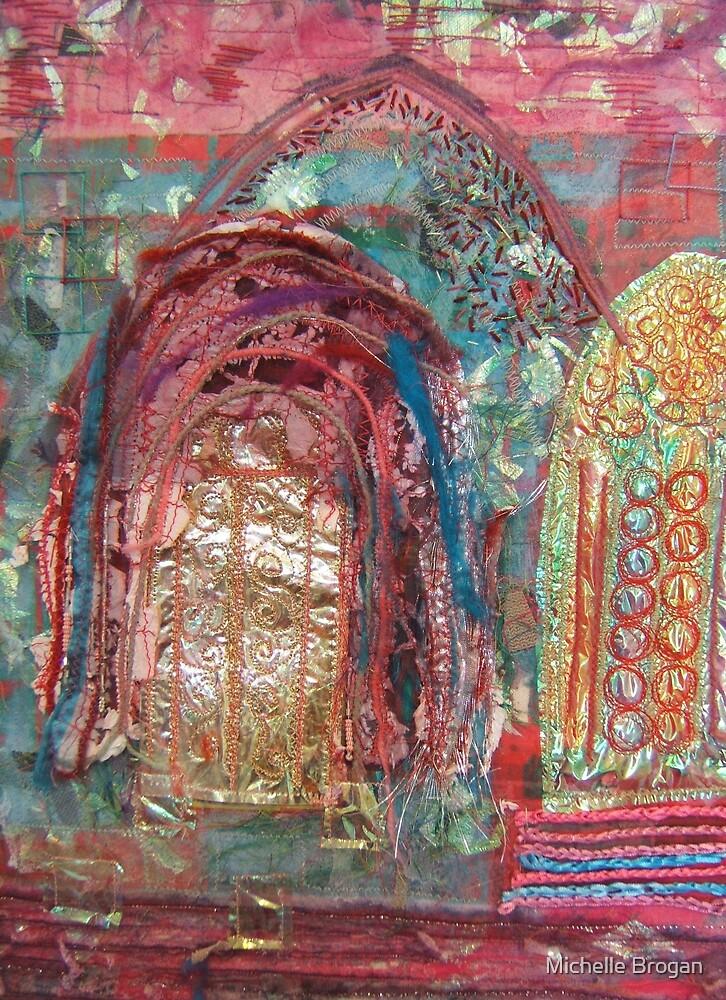 Pink Churches by Michelle Brogan