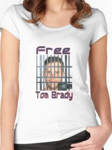 Free Tom Brady  Women's Fitted Scoop T-Shirt