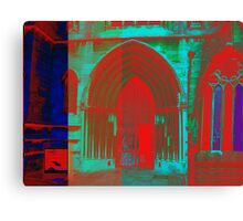 Red and Blue Church Canvas Print