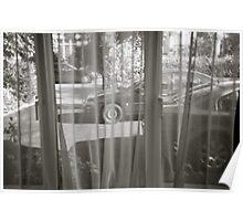 Wheels Through Curtain Poster