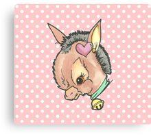 Kitsch Critter Denny the Donkey Canvas Print