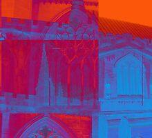 pink, blue and orange church by Michelle Brogan