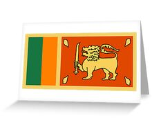 Sri Lanka, national id Greeting Card