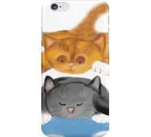Nap Interrupted by Tiger Kitten iPhone Case/Skin