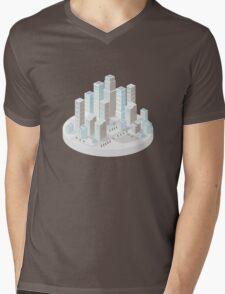 Skyscrapers Mens V-Neck T-Shirt