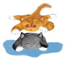 Nap Interrupted by Tiger Kitten by NineLivesStudio