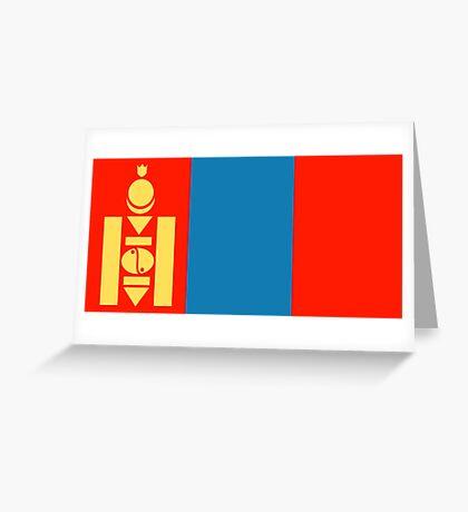Mongolia, national id Greeting Card