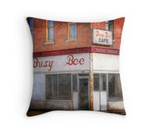Busy Bee Cafe Throw Pillow