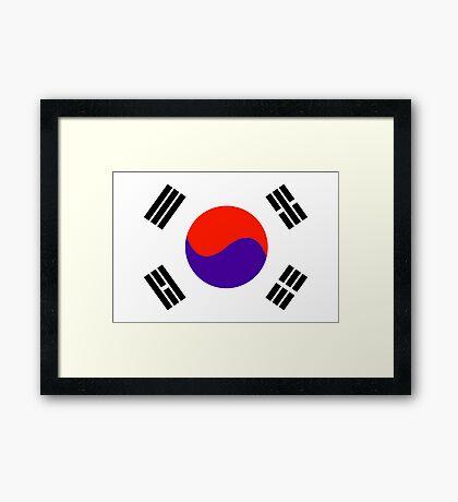 South Korea, national id Framed Print