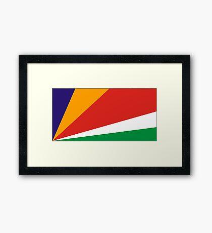 Seychelles, national id Framed Print