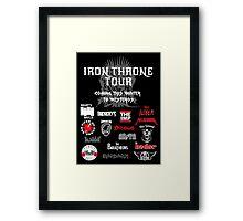 Iron Throne Tour (Game of Thrones Shirt) Framed Print