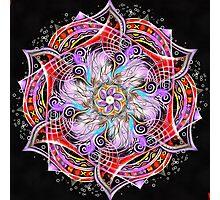 Strange Runes Mandala Photographic Print