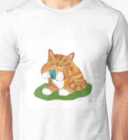 kitty has a Butterfly Unisex T-Shirt