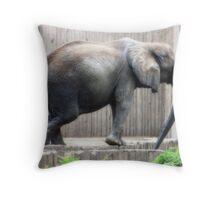 Orton the Elephant Throw Pillow