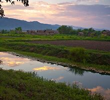 Myanmar Sunset by quotidianphoto