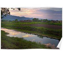 Myanmar Sunset Poster