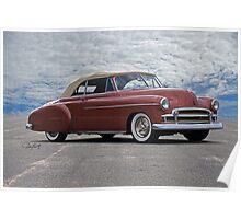 1950 Chevrolet Custom Convertible Poster