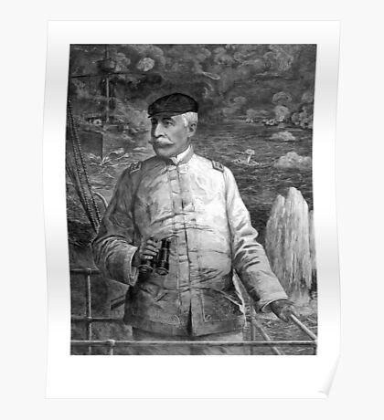 Admiral Dewey At Sea Poster