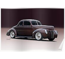 1940 Ford 'Fifties Style' Coupe Poster