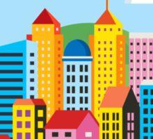 City illustration Sticker