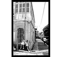 Noumea street life BW Photographic Print