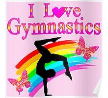 PINK I LOVE GYMNASTICS DESIGN Poster